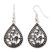 Arizona Open Metalwork Teardrop Earrings