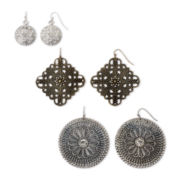 Arizona Metalwork 3-pr. Earring Set