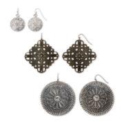 Arizona Metalwork 3-pr. Earring Set