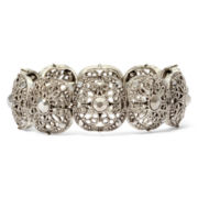 Liz Claiborne® Simulated Marcasite Stretch Bracelet