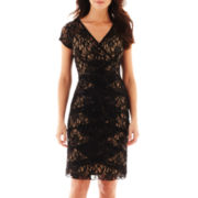 2295817 Scarlett Short-Sleeve Lace Dress