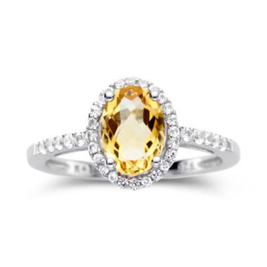 jcpenney.com | Citrine & Lab-Created White Sapphire Sterling Silver Ring