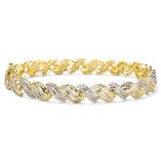 1½ CT. T.W. Diamond 10K Yellow Gold Swirl Bracelet