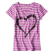 Total Girl® Striped Graphic Tee - Girls 6-16 and Plus