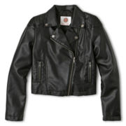 Total Girl® Faux Leather Moto Jacket - Girls 6-16 and Plus