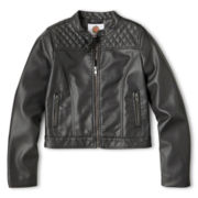 Total Girl® Faux Leather Jacket - Girls Plus