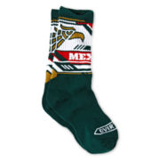 Overtime Mexico Dark Green Crew Socks - Boys
