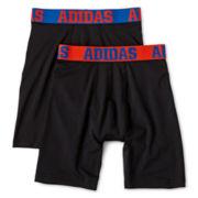 adidas® 2-pk. Sport Performance Long Boxer Briefs - Boys 8-20