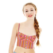 L'Amour by Nanette Lepore Striped Jacquard Bralette