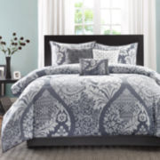 Madison Park Marcella 7-pc. Cotton Printed Floral Comforter Set