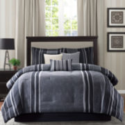Madison Park Beldon 7-pc. Striped Comforter Set