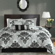 Madison Park Larissa 7-pc. Damask Comforter Set