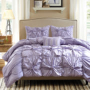 Madison Park Melissa 4-pc. Ruched Duvet Cover Set