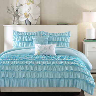 jcpenney.com | Intelligent Design Kacie Ruffled Comforter Set