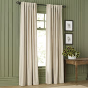 MarthaWindow™ Fairmont Basketweave Rod-Pocket/Back-Tab HeavyCotton Curtain Panel