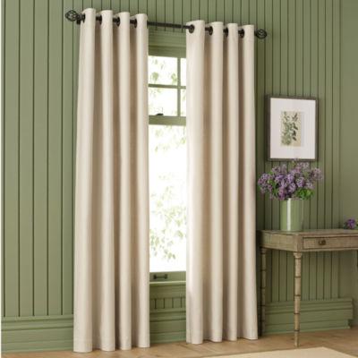 MarthaWindow™ Fairmount Basketweave Grommet-Top Heavyweight Cotton Curtain Panel