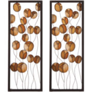 Capiz Flower Set of 2 Wall Art