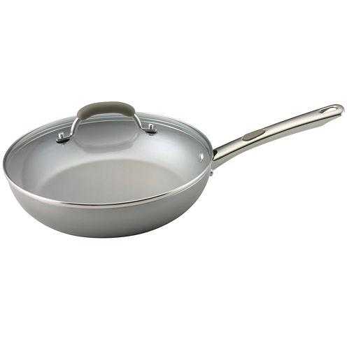 """Farberware® Specialties 10½"""" Nonstick Deep Fry Pan with Lid"""