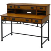 Langsford Bay Executive Desk and Hutch