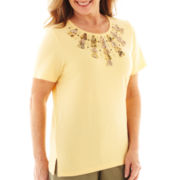 Alfred Dunner® Call of the Wild Short-Sleeve Tribal-Yoke Top