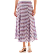 Lark Lane® Fine Print Pull-On Gauze Skirt