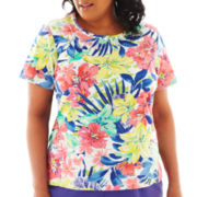 Alfred Dunner® St. Tropez Short-Sleeve Tropical Top - Plus