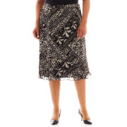 Alfred Dunner® Belize Tribal Print Skirt - Plus