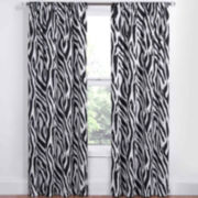 Eclipse® Kids Safari Rod-Pocket Thermal Blackout Curtain Panel