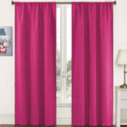 Pairs to Go Capella Woven Solid Rod-Pocket Curtain Panel Pair
