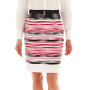 Worthington Sateen Pencil Skirt - Tall