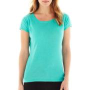 Worthington Short-Sleeve Lace Detail Sweater