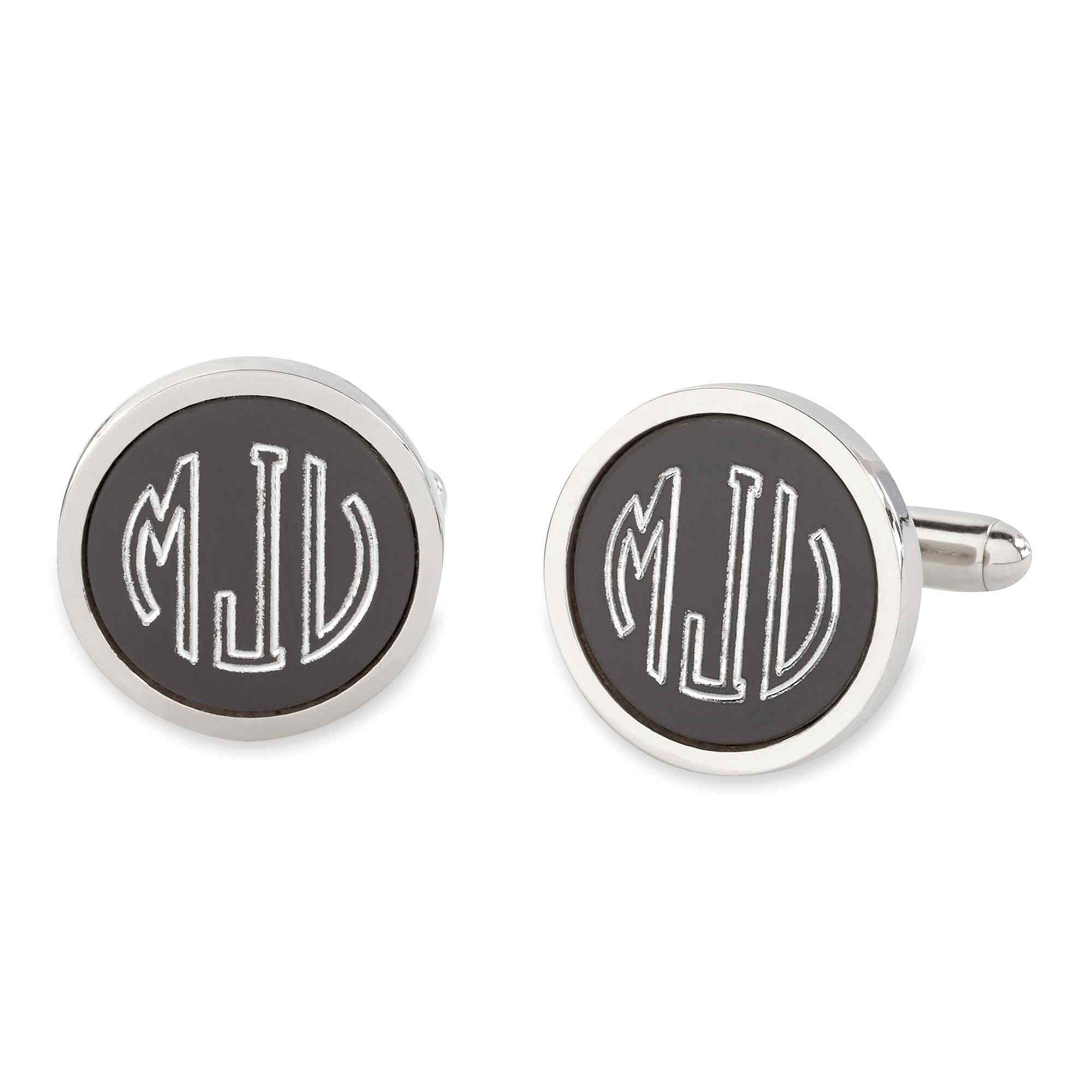 Personalized Anodized Aluminum Round Cuff Links