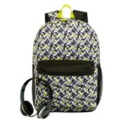 Digicamo Print Backpack with Headphones