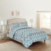 Ellen Tracy Cole Chevron 3-pc. Comforter Set