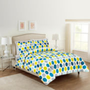 Ellen Tracy Ikat Dot 3-pc. Comforter Set