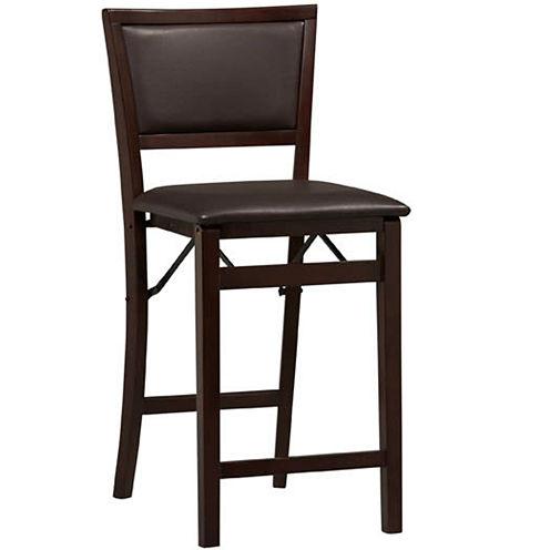 Upholstered Folding Barstool with Back