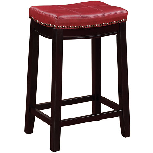 Lakeland Upholstered Backless Barstool