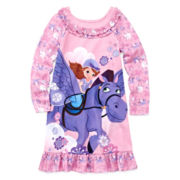 Disney Collection Sofia the First Nightgown - Girls 2-10