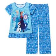Disney Collection Frozen Pajama Set - Girls 2-10