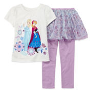 Disney Collection Frozen Tee and Skeggings - Girls 2-10