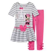 Disney Collection Minnie Mouse Dress & Leggings Set - Girls 2-10