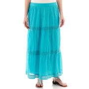 St. John's Bay® Clip Dot Maxi Skirt