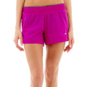 Xersion™ Woven-Front Knit-Back Shorts