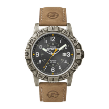 jcpenney.com | Timex® Rugged Mens Leather Strap Field Watch
