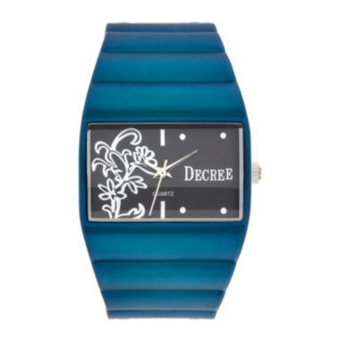 jcpenney.com | Decree® Womens Floral Dial Bangle Watch