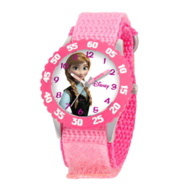 jcpenney.com | Disney Frozen Anna Kids Time Teacher Pink Fast Strap Watch