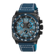 Citizen® Eco-Drive™ Mens Blue Square Case Chronograph Watch AT2287-06H