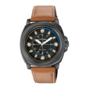 Citizen® Eco-Drive™ Drive Mens Tan Leather Strap Multifunction Watch
