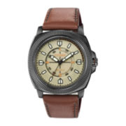 Citizen® Eco-Drive™ Drive Mens Brown Leather Strap Watch BJ6477-04X