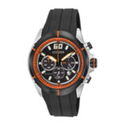 Citizen® Eco-Drive™ Drive Mens Rubber Strap Chronograph Watch CA4108-04E